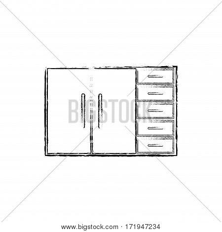 Kitchen cabinet design icon vector illustration graphic design
