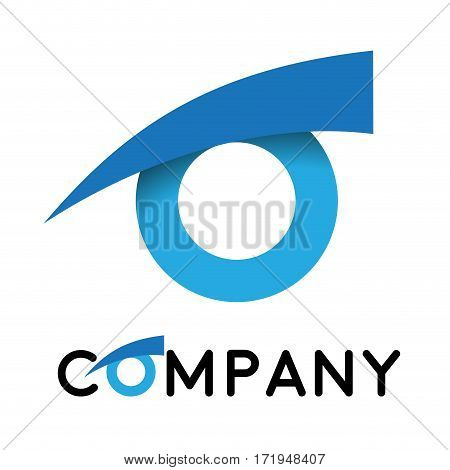 Vector sign eye iris, isolated in white background