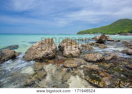 Seascape Of Koh Larn Thailand In Summer