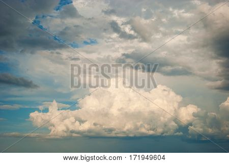 The Autumn sky with beautiful various clouds
