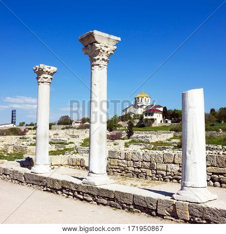 Ancient Greek town Chersonese in Crimea, Russia