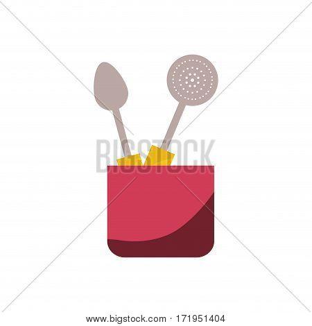 Kitchen cook utensil icon vector illustration graphic design