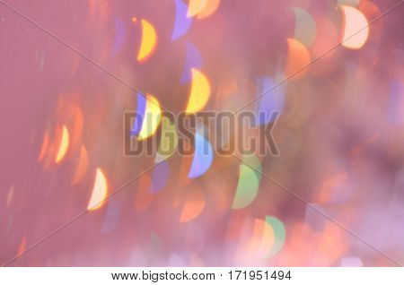 Lights blurred bokeh background  vintage or retro color toned