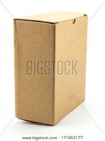 The cardboard box isolated on white background.