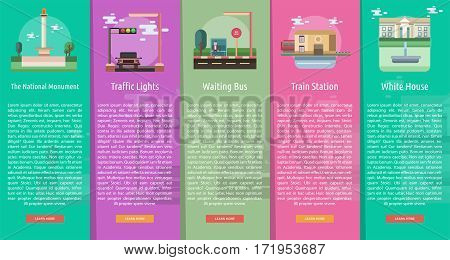 Travel Vertical Banner Concept | Set of great vertical banner flat design illustration concepts for travel, vacation, holiday and much more.