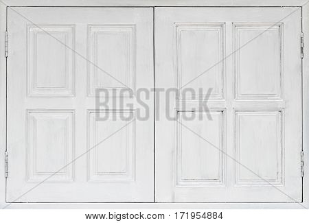 Closeup detail of white wooden window background