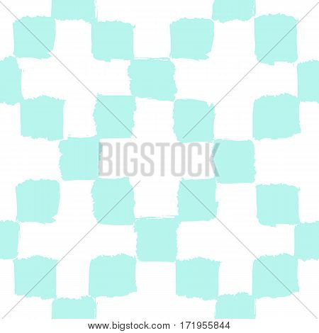Geometric paint background. Vector hand drawn seamless pattern