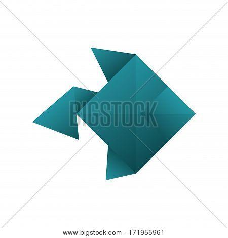 origami paper art icon vector illustration graphic design