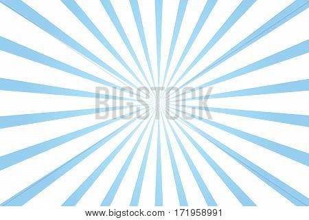 blue and white radial starburst background vector illustration