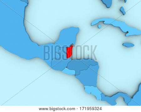 Belize On 3D Map