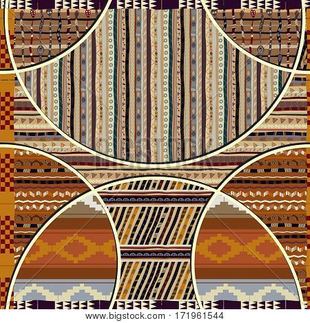 Seamless texture with geometric elements in the African style