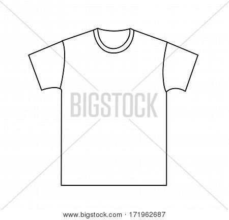 Blank t-shirt template illustration on white background