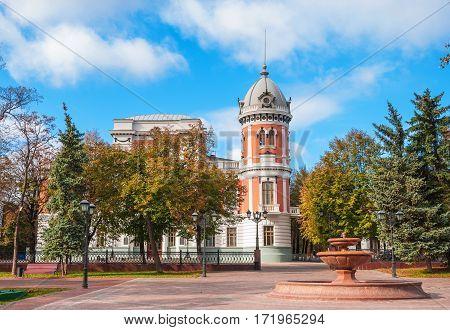 Ulyanovsk regional museum named Goncharova. Architect August Shode. Russia, Ulyanovsk. October 17, 2015