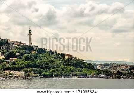 Faro della Vittoria Gulf of Trieste Italy