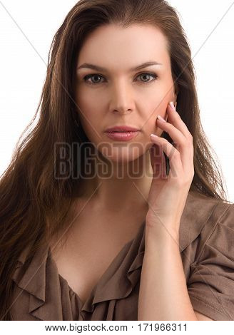Beauty Mid Age Woman With Natural Make Up