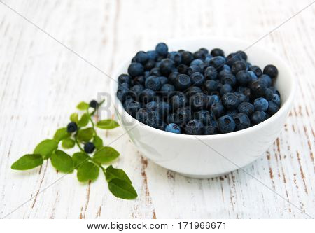 Bowl With Blueberries