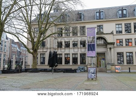 Utrecht the Netherlands - February 13 2016: Utrecht Archive in city centre (Hamburgerstraat)