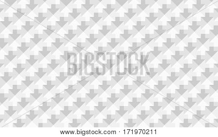 abstract low poly mosaic white arrows texture background