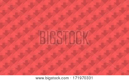 abstract low poly mosaic red arrows texture background