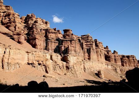 Great Canyon park in asia Kazahstan with sky