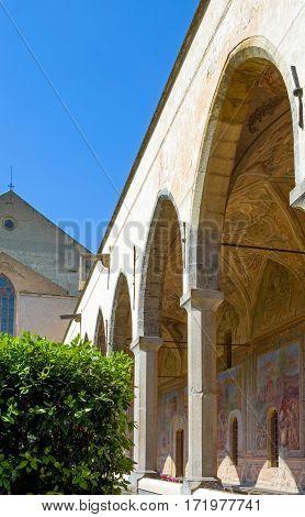 Italy Naples the Santa Chiara Monastery cloister