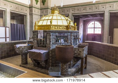 Pump Room With The Healthy Spa Water In Bad Nauheim