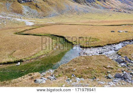 little streams in mountain -  european Alps