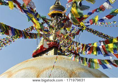 The Great stupa Bodnath in Kathmandu Nepal