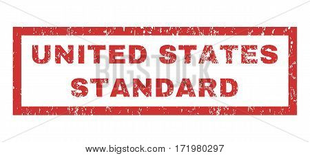 United States Standard text rubber seal stamp watermark. Tag inside rectangular shape with grunge design and unclean texture. Horizontal vector red ink emblem on a white background.