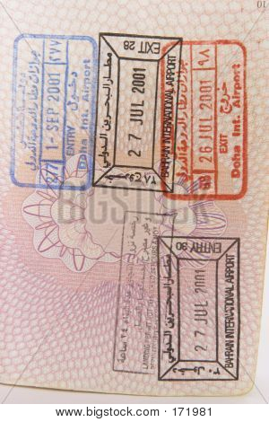 Bahrain Visa Stamps
