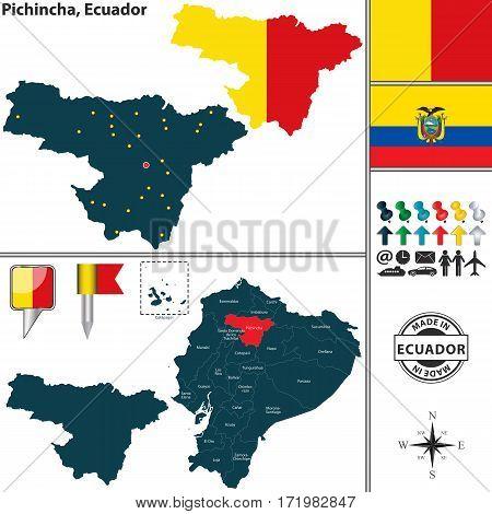 Map Of Pichincha, Ecuador