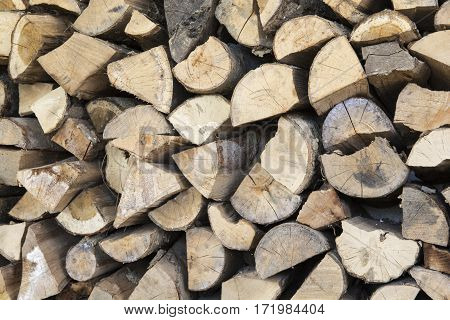 A stack of woods for fireplace stock for the cold days