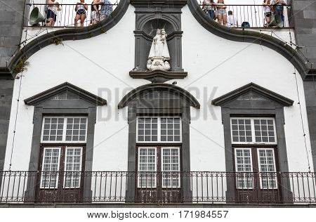 FUNCHAL PORTUGAL - SEPTEMBER 2 2016: Igreja de Nossa Senhora do Monte Church (Our Lady of the Mount) in Monte near Funchal on the Portuguese island of Madeira.