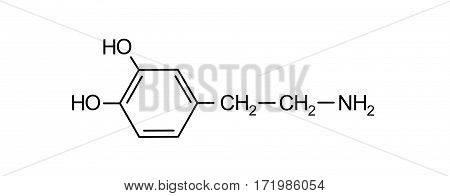 dopamine chemical formula science symbol elements reaction