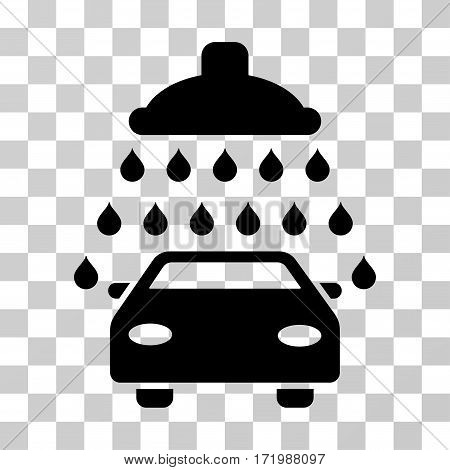 Car Shower vector pictograph. Illustration style is a flat iconic black symbol on a transparent background.