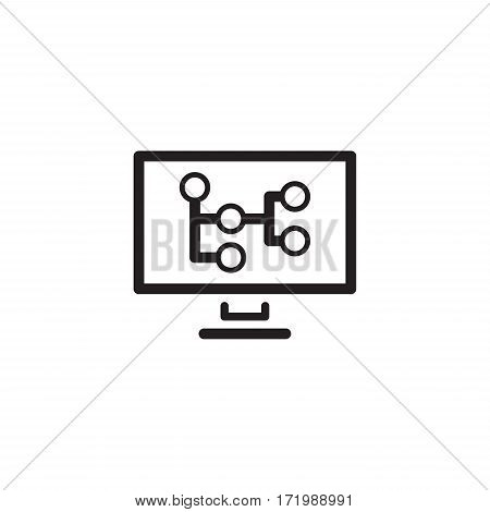 Mind Map Icon. Business Concept. Flat Design Isolated Illustration.