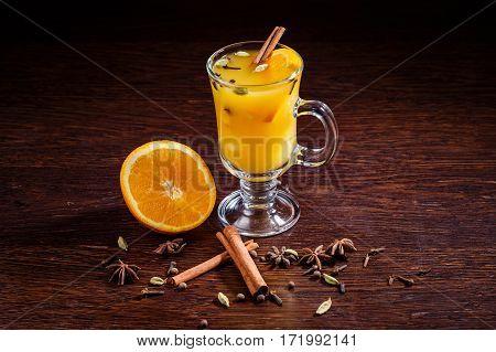 Hot Apple Orange Cider