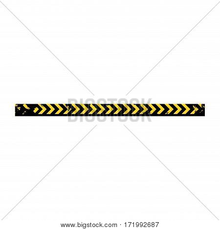 color silhouette with police line tape vector illustration
