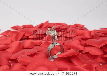 Wedding Figure Stand On The Ring