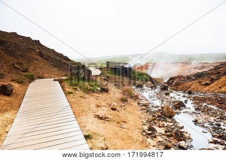 Seltun Geothermal Area In Krysuvik, Iceland