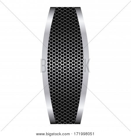 grill perforated with metallic frame vector illustration