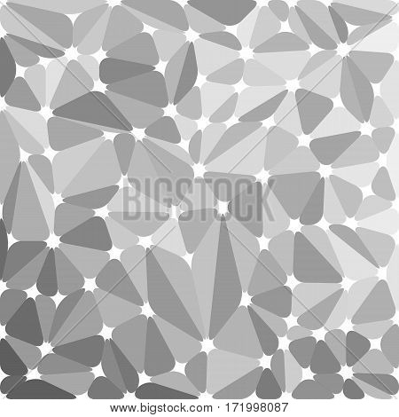 Original rounded gray abstract background. Vector illustration for your design.
