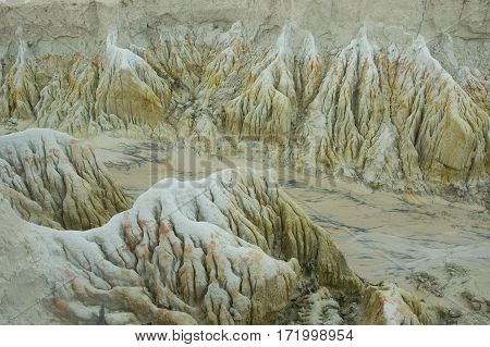 A rock formation dunes near Fortaleza Brazil