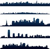 New York City silhouettes poster