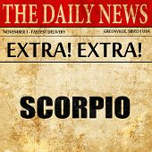 scorpio, article text in newspaper poster