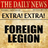 foreign legion, article text in newspaper poster