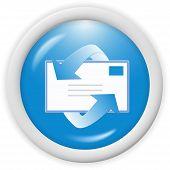 3d blue email icon sign - web design illustration poster