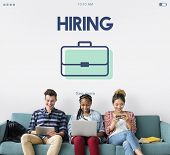 Job Hiring Vacancy Team Interview Career Recruiting poster