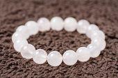 natural stone beads stretch bracelet semi-precious stone bracelet poster