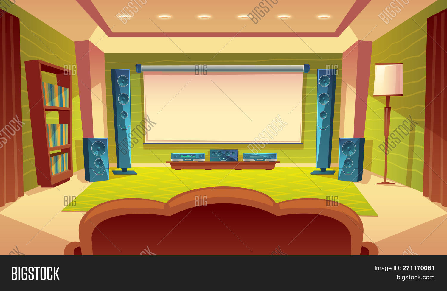 Cartoon Home Theater Image & Photo (Free Trial) | Bigstock